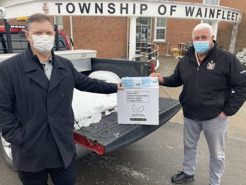 Wainfleet Begins Distribution of Non-Medical Grade Masks in the Community.